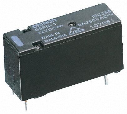 单刀双掷 印刷电路板安装 非闭锁继电器, 5v dc